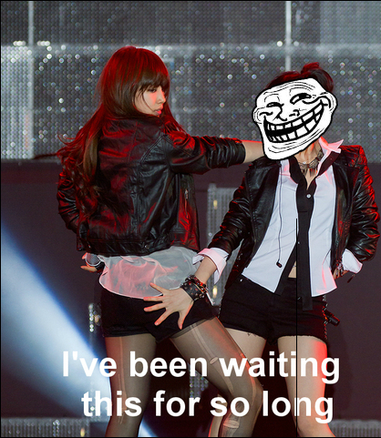 Jia has been waiting for this moment in every performance, trust me! :D