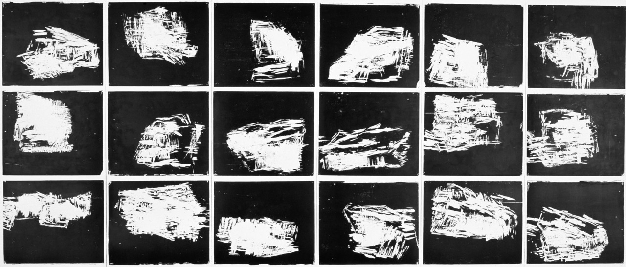Andreas Rosenthal, Black on White, White on Black and - All in White Woodcut 1993-2003