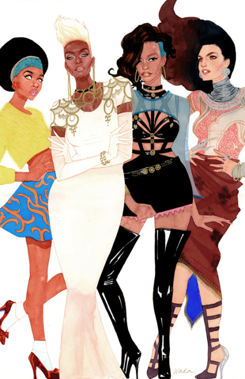 kevinwada:  Serving you 90s X-fashion realness. Miss. Oya, Ms. Storm, Ms. Frenzy, and Ms. Monet St. Croix. Full description on my blog