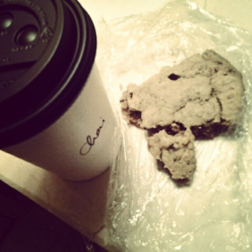Chai tea latt and a peanut butter cookie. Harmony recording session rocket fuel.  (Taken with instagram)