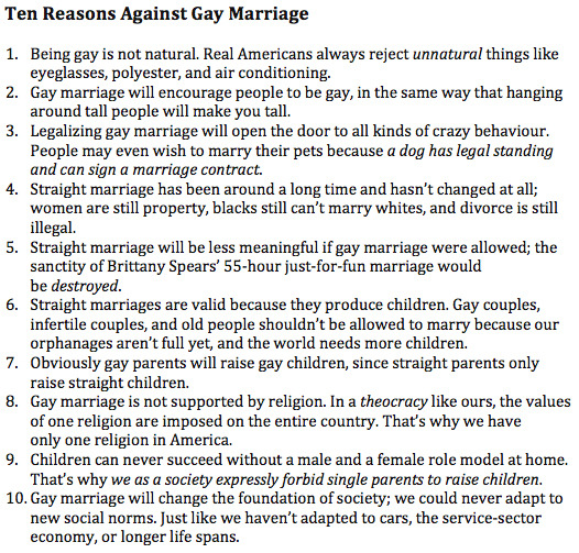 1612th:  this covers every argument against gay marriage and completely destroys it this is a very good post