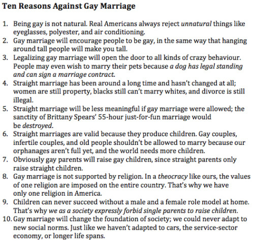Should gay marriage be legalized essay