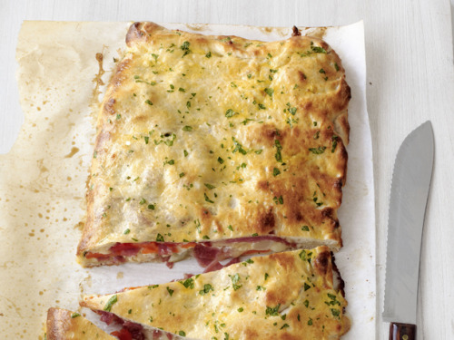 fattributes:  (via Salami-Mozzarella Calzone Recipe : Food Network Kitchens : Food Network)