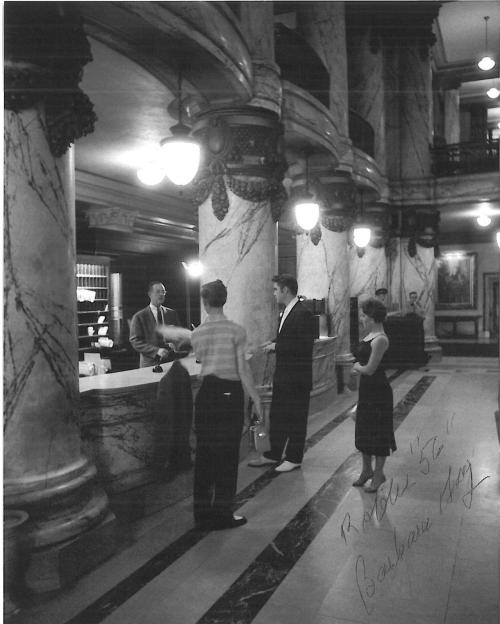 "gingerific-gingerific: ""Elvis checking in @ The Jefferson Hotel"""