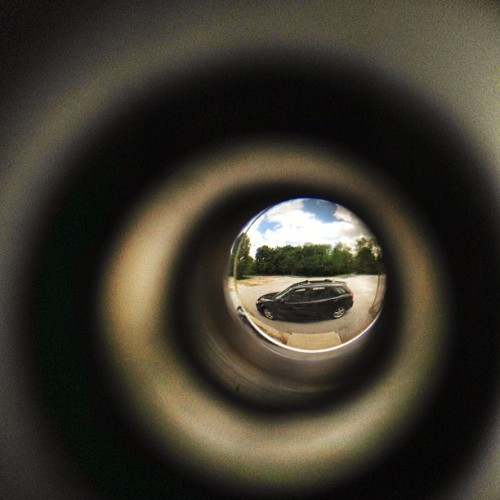 #peephole #car #mazda #automobile  (Taken with instagram)