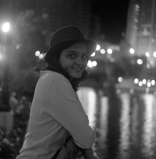 portrait of a friend.  chicago river , fall 2011.