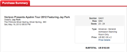 JUST BOUGHT TICKETS TO THE JAY PARK & DUMBFOUNDEAD CONCERT!!!!