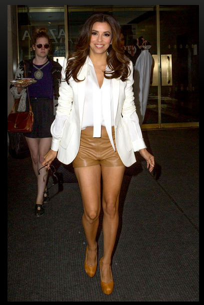 "Eva Longoria looking amazing in the Rachel Zoe Collection ""Sawyer"" Top in Ivory and ""Kyle"" Jacket in White while visiting 'The Today Show'"