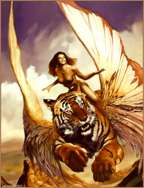 This is a different woman with a different flying tiger.