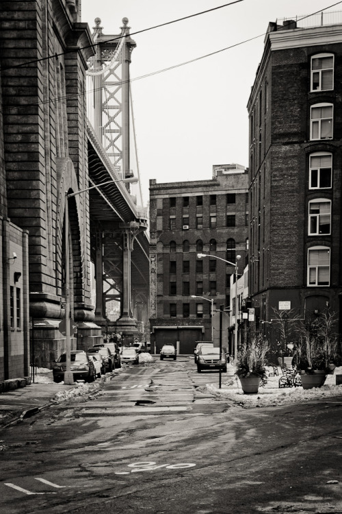Manhattan Bridge. Brooklyn. New York City, USA.
