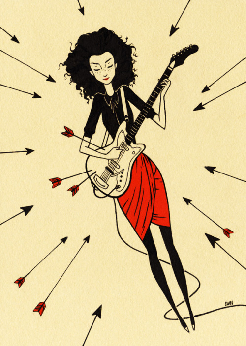 "juliancallos:  ""St. Vincent"" The invincible Annie Clark, AKA St. Vincent. http://juliancallos.blogspot.com/2012/04/st-vincent.html"