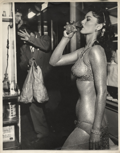 The Gold Painted Stripper, 1950.Weegee