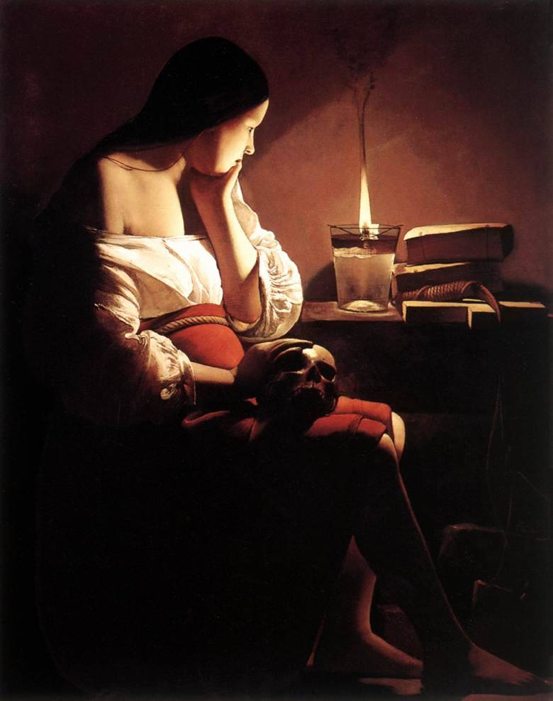 The Magdalene with the Smoking Flame painting by Georges dela Tour