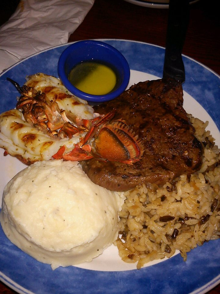 """Steak and lobster. It's what's for dinner."" Photo by Sammie H.  Help Sammie win Womply's Favorite Eats Photo Contest by clicking the photo and hitting ""Like""! To learn more about the contest, click here."