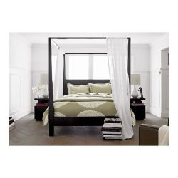 (via Pavillion Black Canopy Bed in Beds, Headboards | Crate and Barrel)