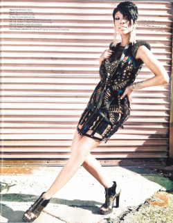 Singer Brandy rocking Michael Antonio 'Tora' in the 2012 Spring Fashion issue of YRB Magazine.