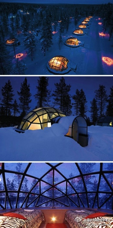jonnymanseeya:  This is a hotel in Norway, is where hundreds stay at during the month of December. Reason-being, it has one of the best views of the Northern Lights.There are over 40 rooms and I want to make sure that I'll at one of them one day!