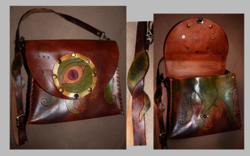 cthulhu leather bag.