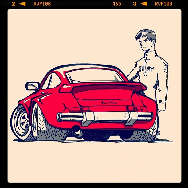 WIP - The leader drives a Porsche! (Taken with instagram)