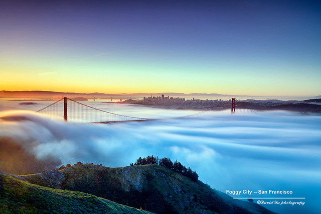 Foggy City — San Francisco by davidyuweb on Flickr.