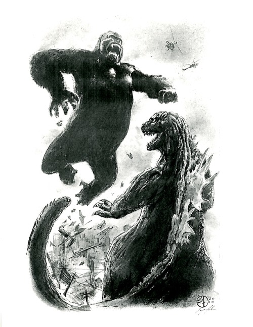 (via GODZILLA VS. KING KONG PRINT BY JAY FIFE!, in Inkwell Awards's Prints and sketchbook donations Comic Art Gallery Room)