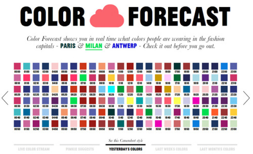 laughingsquid:  Color Forecast Predicts Color Trends in European Fashion Capitals