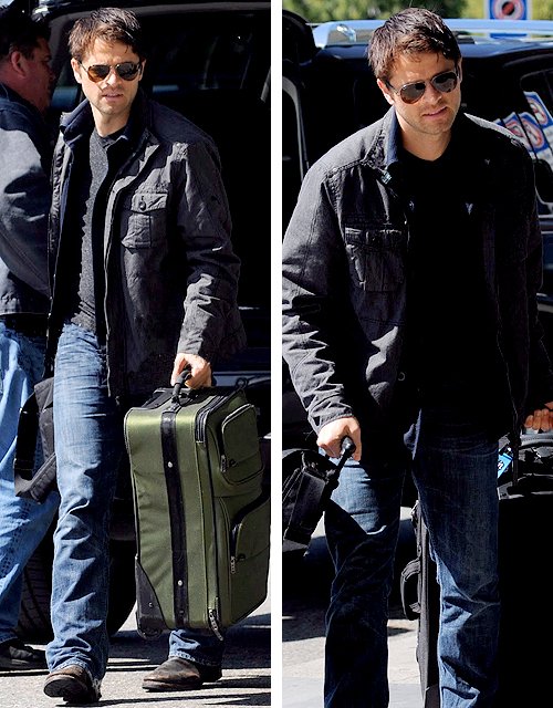 "Misha Collins heads home to LA - April 20thMisha Collins said he enjoyed the finale but worked until 6am Thursday morning to finish. I asked Misha if he had a message for the fans and he said, ""get plenty of sleep and take your vitamins"". (x)"