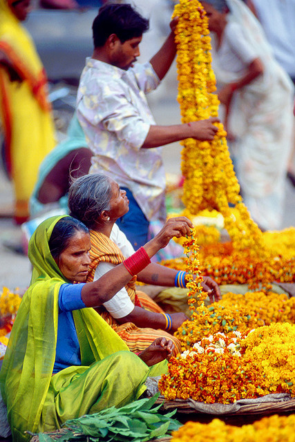 Flower Garland Sellers by photosbypjt on Flickr.