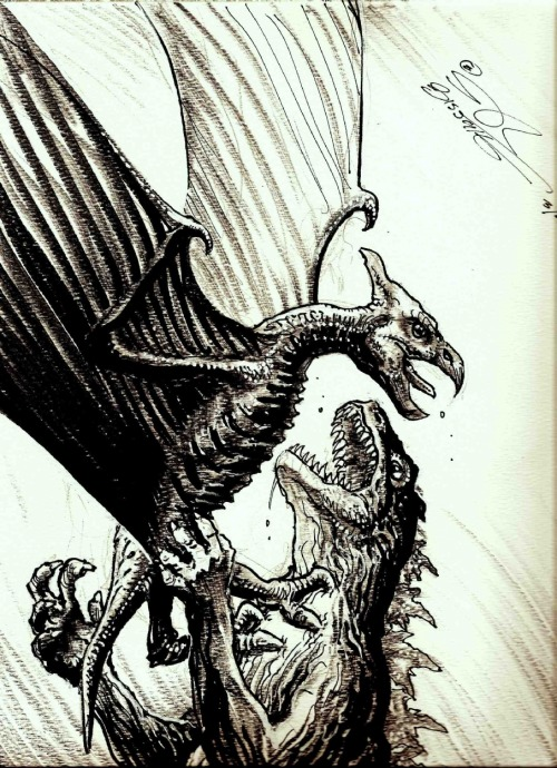 (via Gojira vs Rodan!, in Stephen Bissette's SOLD ART Gallery (NFS) Comic Art Gallery Room)