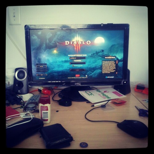 the last thing keeping me from playing diablo 3 #busyservers (Taken with instagram)