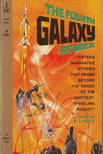 HL Gold (ed) - The Fourth Galaxy Reader (Perma M4184) on Flickr.Via Flickr: Gold, H.L. The Fourth Galaxy Reader 1960 Perma M4184 Cover by Powers, Richard