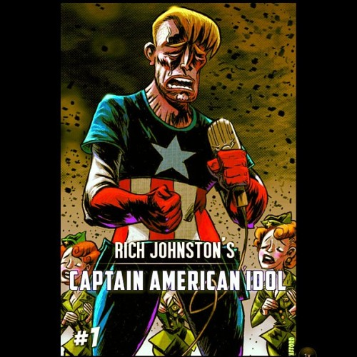 #CaptainAmericaIdol #CaptainAmerica #AmericanIdol #RichJohnston #Comics #Humor #Parody #Reality  (Taken with instagram)