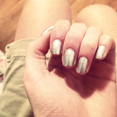 My Tin Man prom nails (; (Taken with instagram)