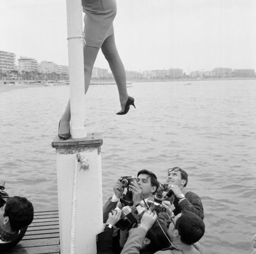 steroge:   Press photographers at work during the film festival in Cannes, France 1967*Bob van Dam