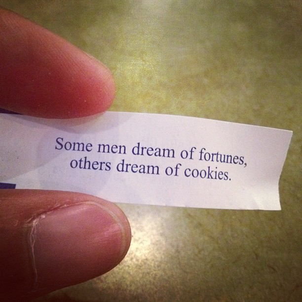 Well, I do like cookies!! (Taken with Instagram at Ollie's Noodle Shop)