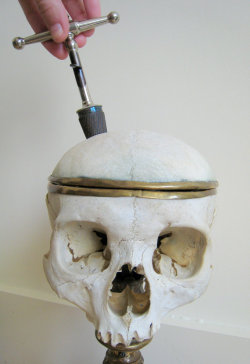 st-wonderland:  Antique Medical Steel Skull Trephine Hand Drill Trepanning