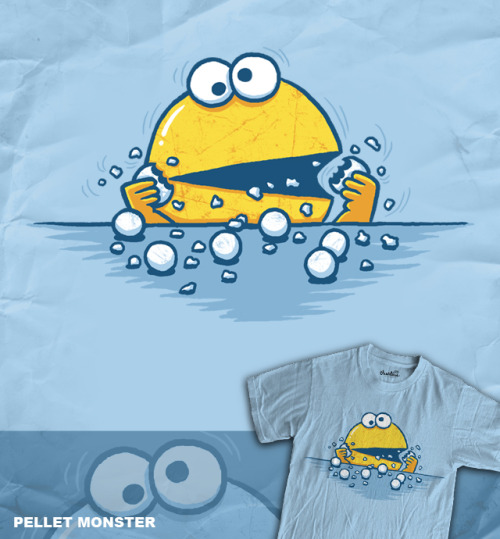 This great T-shirt design, Pellet Monster by WanderingBert, is up for scoring over at Threadless.com so if you want to see it get printed you can find it here and score it a 5!