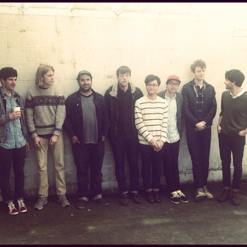 The boys of Real Estate and Craft Spells, in the KEXP parking lot. photo via the KEXP Instagram
