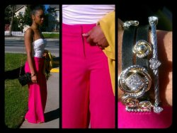 spring fashion pink and yellow