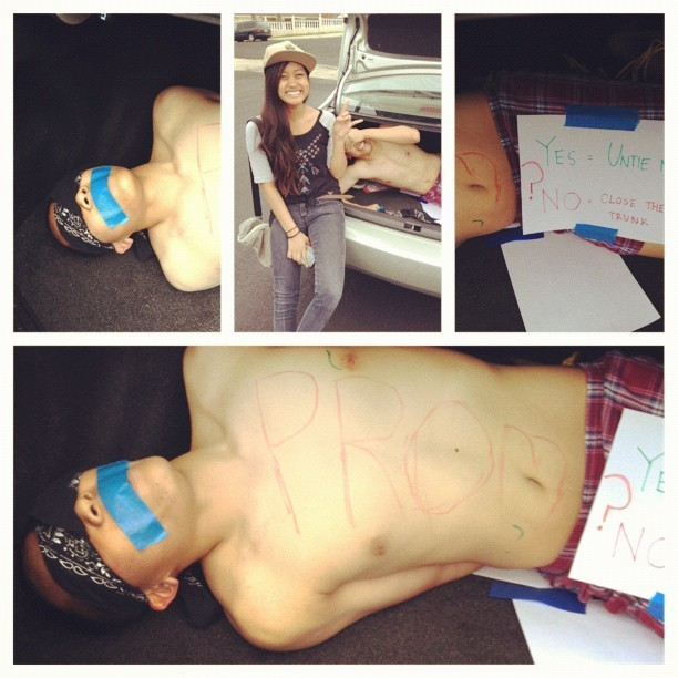 michellesmith:  Soo this is how I got asked to prom LOL (Taken with instagram)  Ayyyeee! lol~