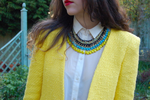 topshop:  Obsessing over this sunshine yellow jacket!