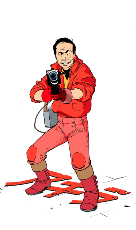 "George Takei Kaneda by benchowfat ""George Takei recently came out to personally back a petition to lobby Warner Bros. for not casting any Asian dudes in it's upcoming remake of Akira. Travesty!! This is my contribution to the petition."""