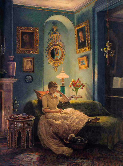 afancyowl:  Sir Edward John Poynter - An Evening at Home