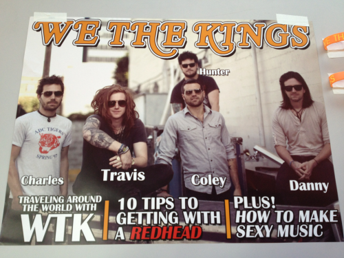 charlestrippy:  We The Kings poster! i so want this!! :D