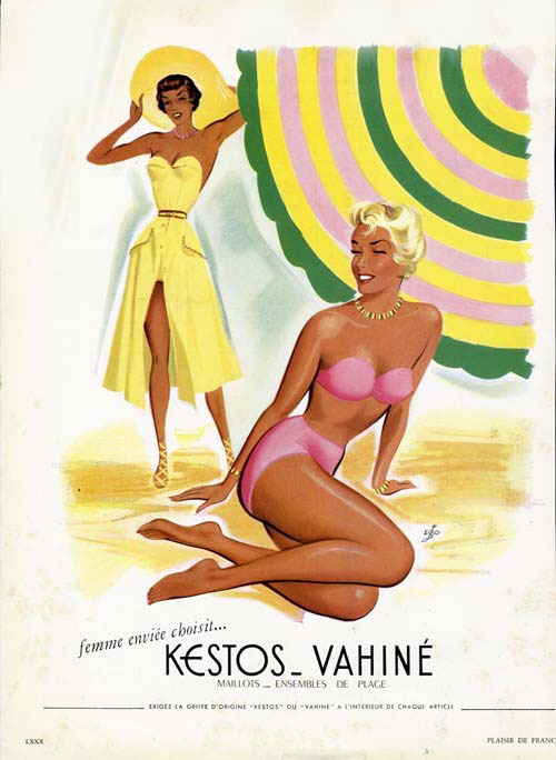 retrogirly:  1950s KESTOS Swimwear Ad