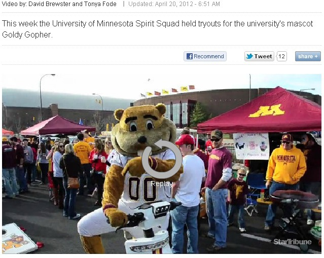 Amusing to think that Minnesota has a Mascot Coach.