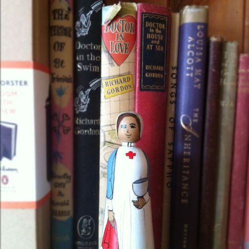 World War I Nurse, painted by Jilli for the Deepings Dolls