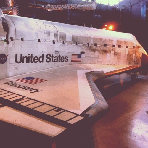 That's what I'm talking about. #space #discovery #smithsonian #dc (Taken with Instagram at Smithsonian National Air & Space Museum - Steven F. Udvar-Hazy Center)
