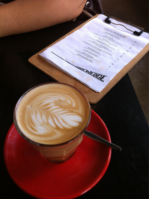 Latte, Wedge Espresso, Glebe.