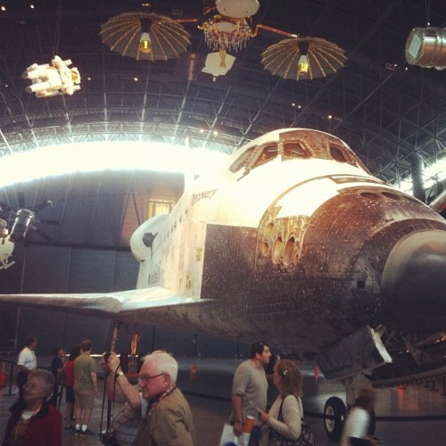 This one lends a better sense of scale. The #Discovery space shuttle is massive; so impressive. #smithsonian #dc (Taken with instagram)
